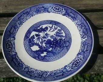 Blue Willow Ware Oriental Design Plate