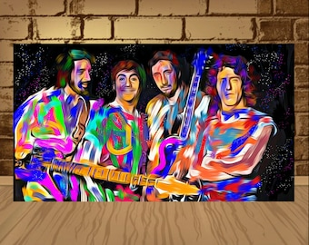 The Who poster,The Who print,The Who art,The Who band,wall art,home decor,music poster,music art,rock art,rock poster,painting print