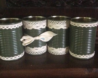 Storage boxes romantic lace recycled