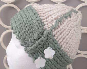 Fab Chunky Winter Warm Ladies Boho Wide Brim Hand Knitted Boho Beanie