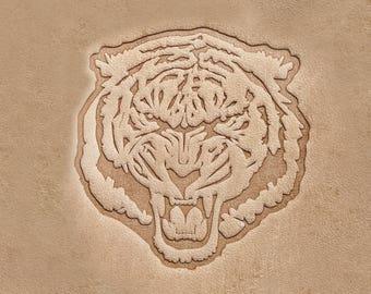 "Delrin Stamp Tiger 3,8x4,1cm (1,49""x1,61"")"