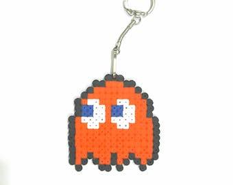 Pacman keychains perler beads