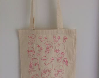 Oneline face tote