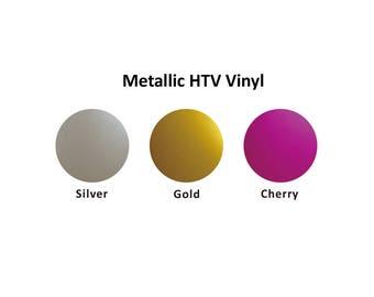 "Heat Transfer Metallic Vinyl, HTV 12"" X 9"" Easy Weed, HTV, PU, Polyurethane, Heat Transfer Vinyl, T Shirt Vinyl, Heat Press Vinyl"