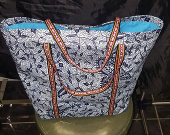 Tote bag in wax