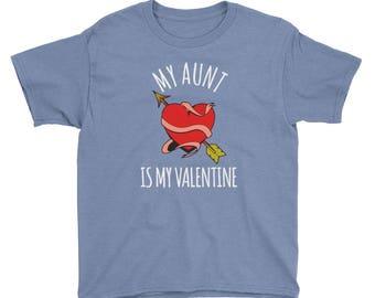 Kids Boys My Aunt Is My Valentine - Valentine's Day T-Shirt