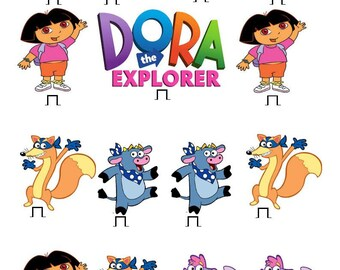 15 x Dora The Explorer edible rice fairy paper cupcake cake toppers edible decoration Stand up Dora The Explorer Birthday Party