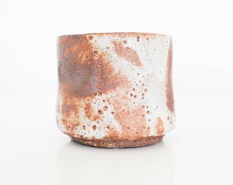 Matcha chawan shino handmade ceramic pottery, woodfired, for the tea ceremony, tea bowl, tea cup