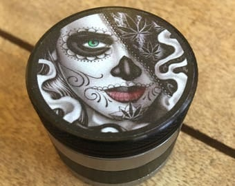 Day of the dead 44mm 4 part custom herb grinder