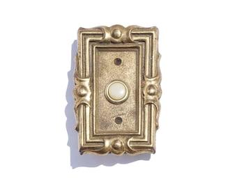 Art Deco Doorbell - Vintage Home Decor - Brass Home Accent