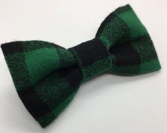 Geeen Buffalo Plaid Flannel Bow Tie • Christmas Bow Tie