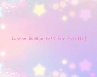 Custom BunBun tail for Estelle!