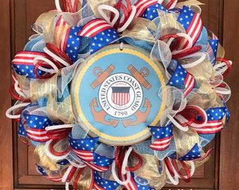 United States Coast Guard Wreath, Coast Guard, Military Wreath, Coastie, USCG, Semper Paratus