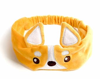 Stretchable corgi headband