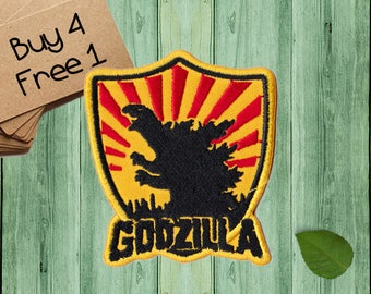 Godzilla Patches Monster Patches Iron On Patch Sew On Patch Patches For Jackets