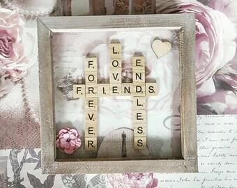 Friends scrabble frame