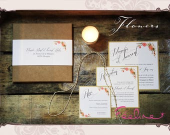 Share wedding Retro Vintage personalized flower