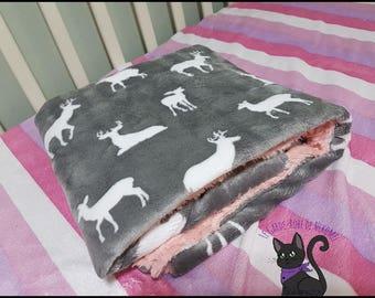 Pink plush deer graphite * on special order *.