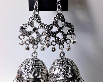 Silver Jhumka Earring ,Oxidized Silver Jhumka Earring ,Fashion Jhumka Earring, Indian Bollywood Jhumka Earring