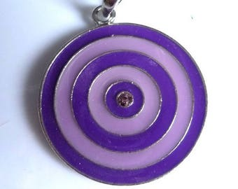 Beautiful vintage style pendant two tone purple