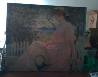 Frank Weston Benson canvas oil painting title Elenore 1907