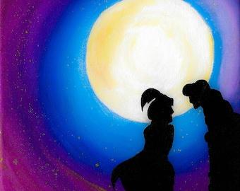 Princess Jasmine & Aladdin Art print
