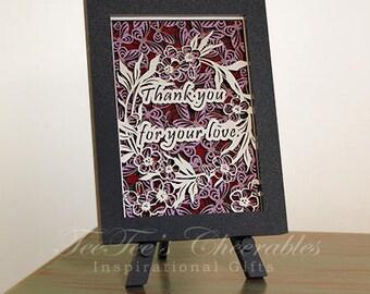 Cherry Blossum Love 3D inspirational card