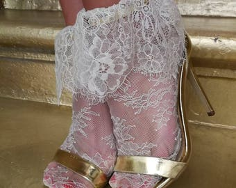 Lace socks for hight heels, boots, any shoes. Lace wedding socks