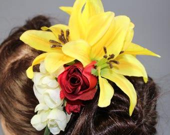 "Vintage inspired hair flower/rockabilly Hairflower ""glamorous"""