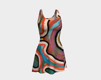 Swirls Flare Dress