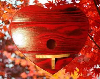 Nesting box, bird house, bird villa, heart