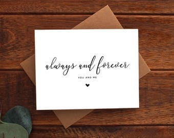 Always and Forever | You and Me Card