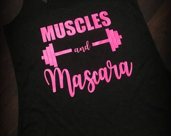 Muscles and Mascara racerback tank