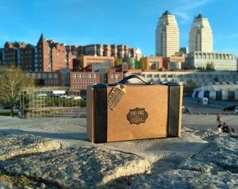 50pcs Craft box | brand packaging | suitcase craft packaging | packaging design | bow tie packaging