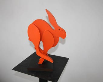 Hare wooden stealth souvenir for a walk in the forest