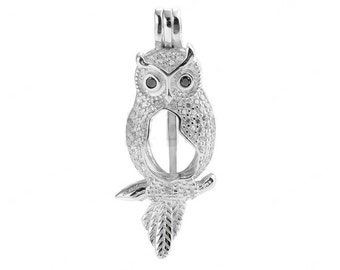 Animal Pearl Cage 925 Sterling Silver Zircon Love Wish Pearl Pendant CDSWP61