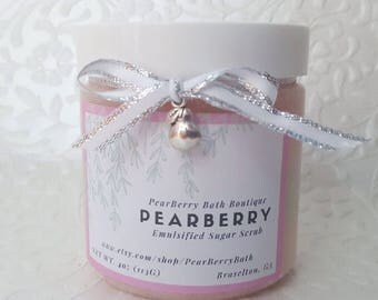 PearBerry Emulsified Sugar Scrub Body Polish Bath and Beauty Skin care Exfoliating Scrub Gifts for Her Home Spa Natural handmade soap 4oz
