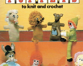Leisure Arts 136 - Toys and Puppets to Knit & Crochet