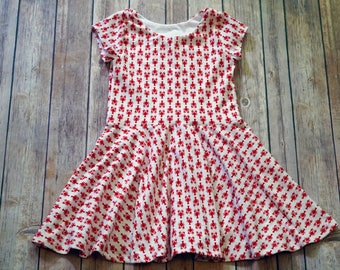 Lobster Dress. Toddler Dress. Little Girl Dress. Twirl Dress. Twirly Dress. Baby Dress. Nautical Dress. Fourth Of July Dress. Play Dress.