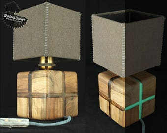 glow in the dark wood modern table lamps wood lamp resin lamps - Unique Table Lamps