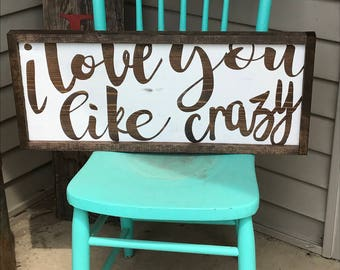 Love Sign - Wedding Gift - Wood Sign - Rustic Home Decor - Rustic Wooden Sign - Housewarming - Hand Painted Sign - Wood Sign - Wooden Sign