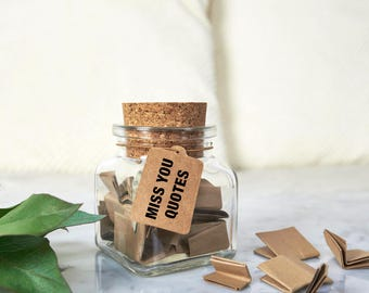 "Jar ""Miss You Quotes"" - miss you gift, long distance gift"