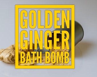 Golden Ginger Bath Bomb