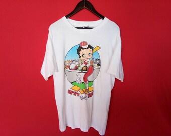 vintage betty boop cartoon large mens t shirt