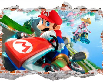 Mario Kart Smashed Wall Sticker Wall Decal