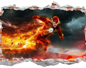 The Flash Smashed Wall Sticker Decal