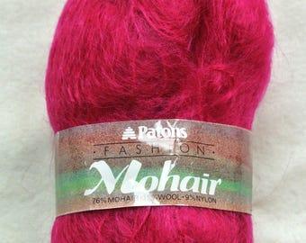 Patons Dark Pink Mohair Wool (6 x 50g)
