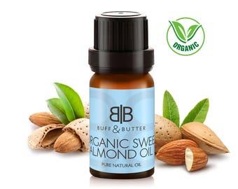 Organic Sweet Almond Oil 100% Pure Natural Fragrance Aromatherapy - 1ml Tester Vial, 10ml, 25ml, 50ml, 100ml Bottle