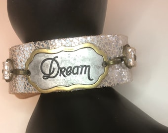 Genuine Leather Dream Cuff Bracelet