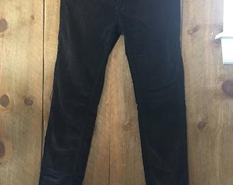 Free People Black Velvet Corduroy Pants Womens Size 28